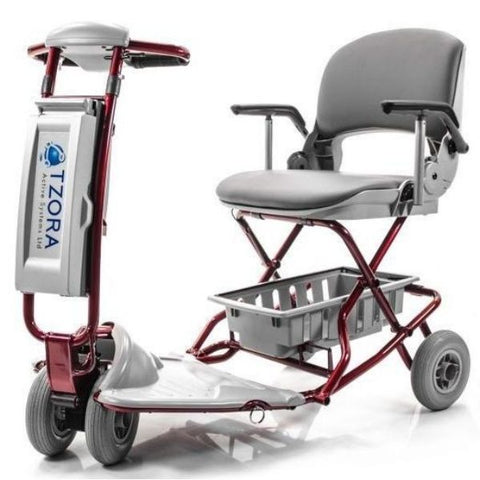 Tzora Classic Portable Mobility Scooter Red Front View
