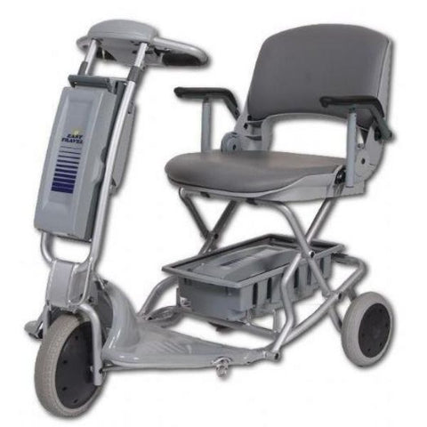 Tzora Easy Travel Elite 3 Wheel Scooter Silver Front View