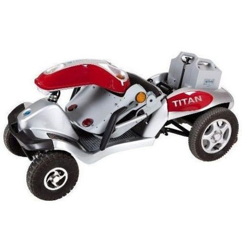 Tzora Titan Hummer XL 4 Wheel Mobility Scooter Folding View