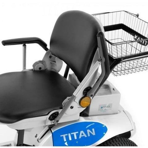 Tzora Titan Hummer XL 4 Wheel Mobility Scooter Seat View