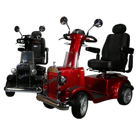 Vintage Vehicles USA Gatsby X 4 Wheel Bariatric Scooter Black and Red Front View