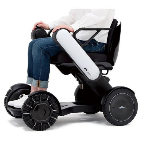 Whill Model Ci Power Wheelchair White Left View