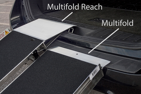 PVI Multifold Reach Ramp Safety Guide Indicates if Ramp is on a Safe Slope View