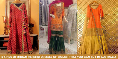 5 Kinds of Indian Mehendi Dresses that you can buy in Australia