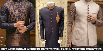 Buy Mens Indian Wedding Outfits with Ease at Nameerabyfarooq in Western Countries
