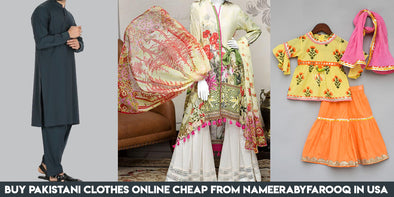 Buy Pakistani Clothes Online Cheap from Nameerabyfarooq in USA