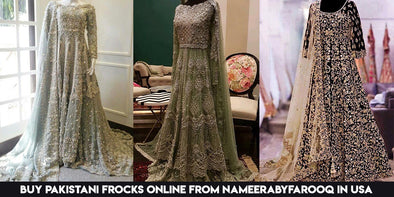 Buy Pakistani Frocks Online from NameerabyFarooq in USA