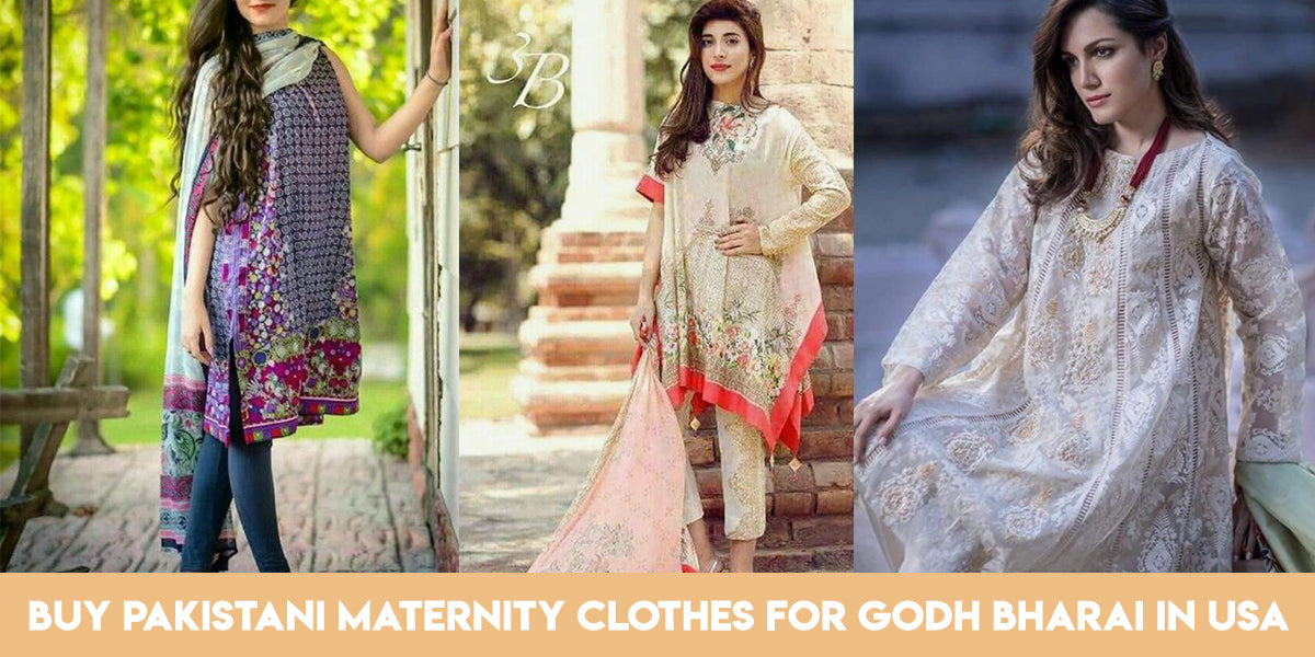 Buy Pakistani Maternity Clothes For Godh Bharai In Usa