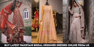Buy latest Pakistani bridal designer dresses online from Nameera by Farooq