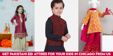 Get Pakistani Eid Attires for your Kids in Chicago from us