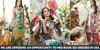 Nameerabyfarooq.com Offers you an Opportunity to Pre-Book Eid Dresses in USA