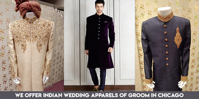 Nameerabyfarooq.com offers Indian Wedding Apparels of Groom in Chicago