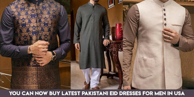 You can now Buy Latest Pakistani Eid Dresses for Men in USA