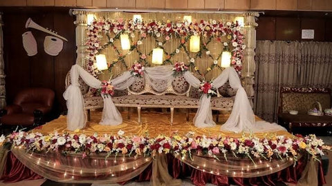 Beautiful Stage Decoration for Bangladeshi Wedding Theme Design