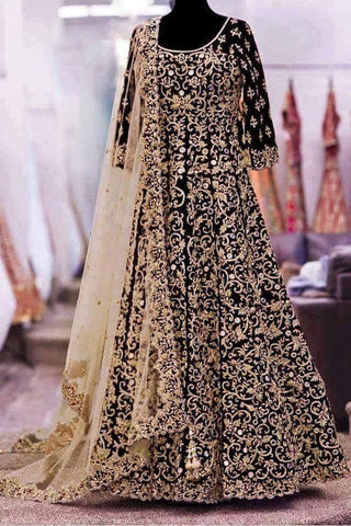Black Long Frock Indian Bridal Dress for Indian Wedding Bridal in Pennsylvania PA USA