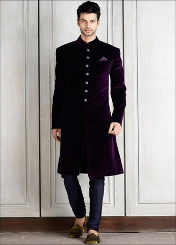 Elegant Indian Groom Wedding Sherwani in USA Online at NameerabyFarooq