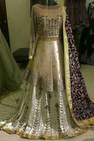 Indian Bridal Short Frock and Lehenga Bridal Dress in Pennsylvania USA