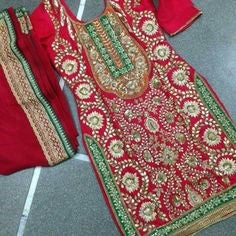 Indian Punjabi Bridal Dresses Online in USA at NameearbyFarooq