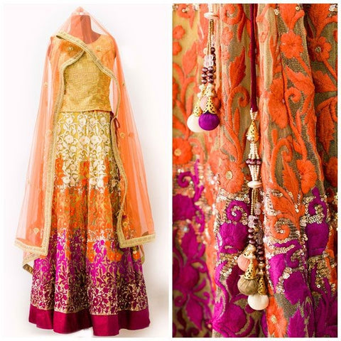Indian Wedding Party Dress by NameerabyFarooq in USA