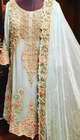 Latest Designer Embroidered Suits in USA