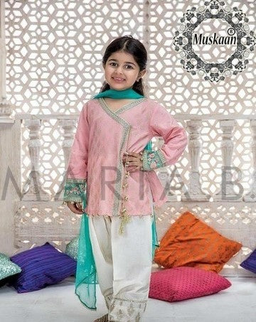 Pakistani Eid Dresses for Kids Online at Nameera by Farooq