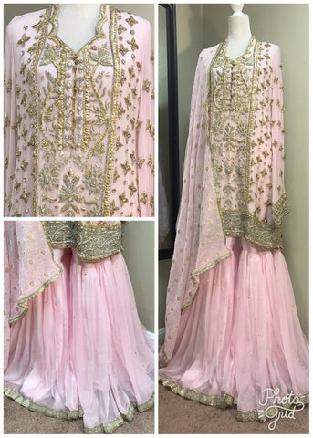 Pakistani Formal Dresses Online for women Frock with Gharara