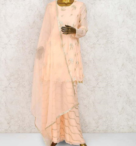 Pakistani Formal Dresses Online for women Peplum Frock with Gharara
