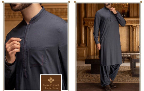 Pakistani Style Men Shalwar Kameez Online in USA at NameerabyFarooq