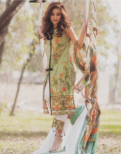 Lawn dress by rang rasiya Model # L 1172