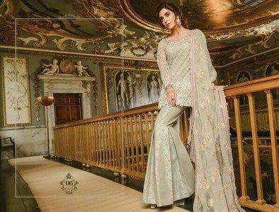 Beutifull dress by Maria in pink and mint green color Model#C 1115