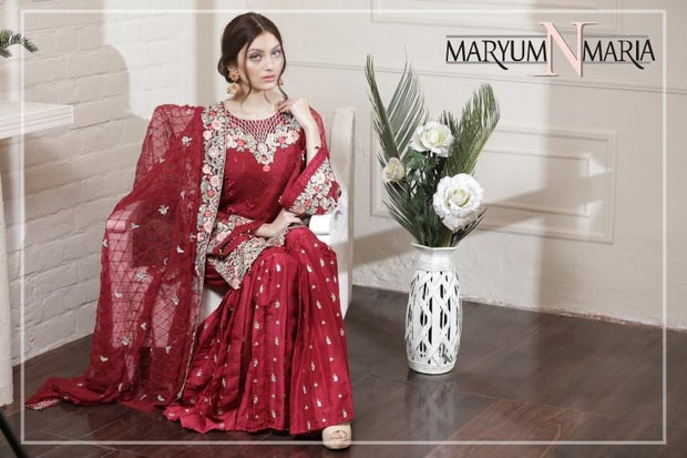 Short Shirt and Gharara Pants by Maryum & Maira Model # C1606