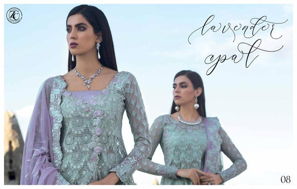 Zainab Chotani Designer Dress In Beutiful Light Green Color.Work Embellished With Tilla,Threads Embroidery & Sequance Work.
