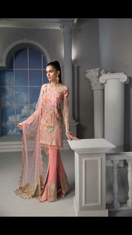 d37a0b2298 Asian Stylish Dress In Beutifull Short Shirt & Boot Pants.In Beutifull Pink  Color Work