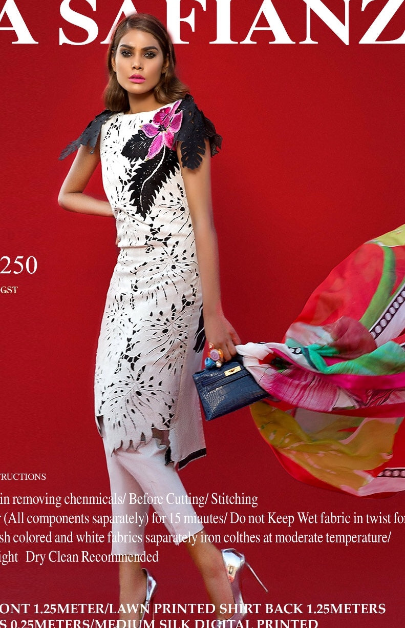 04a2a9725f Beutifull lawn dress by sana safinaz in white color Model# L 1184 – Nameera  by Farooq