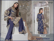 Pakistani Designer Party Wear In Dark Blue Color Model# C 1617