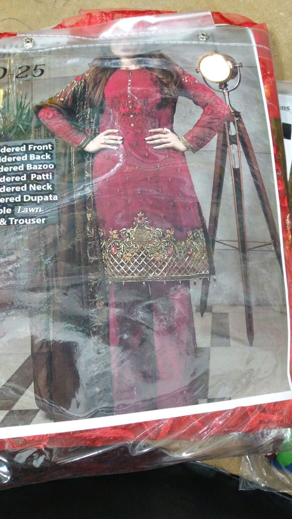 Net lawn dress by imrozia with lawn inner Model # L 1163