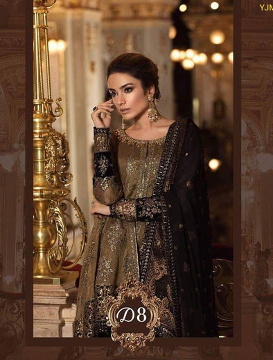 12349dfd84 Latest Party Wear Bronze Color By Maria.B Handwork,Sequance,Tilla Threds  Embroidery