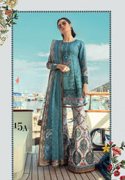 Asian Stylish Lawn Dress by Sobia Nazir In Stylish Paplam Shirt And Boot Pants.Work Embellished With Pure Dhaga Embroidery & Cutwork Patches.