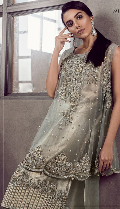 Beutifull dress in silver gray color Model#P 906