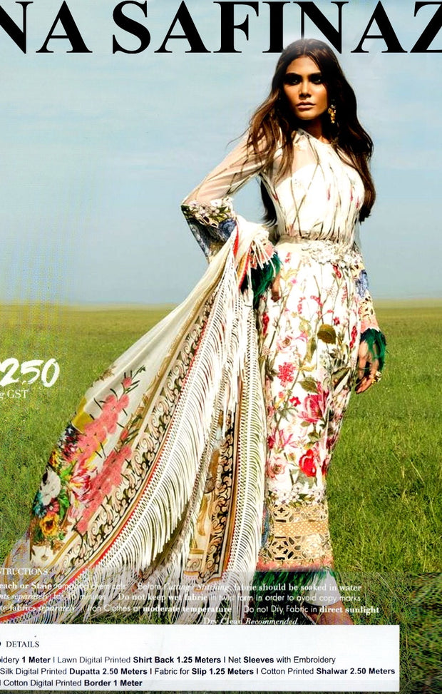 Beutifull dress by sana safinaz in offwhite color Model#L 1188