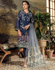 Chiffon Designer Dress by Iznik.Work Embellished With Tilla, Threads Embroidery & Sequance.On Chiffon Fabric.