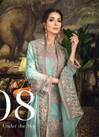513185345c Pakistani Designer Dress In Beautiful Turquoise Color.Work Embellished With  Tilla Threads Embroidery And Patches