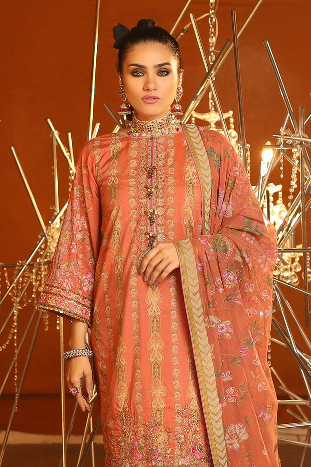 Alkaram Eid Lawn Dress  Close Up