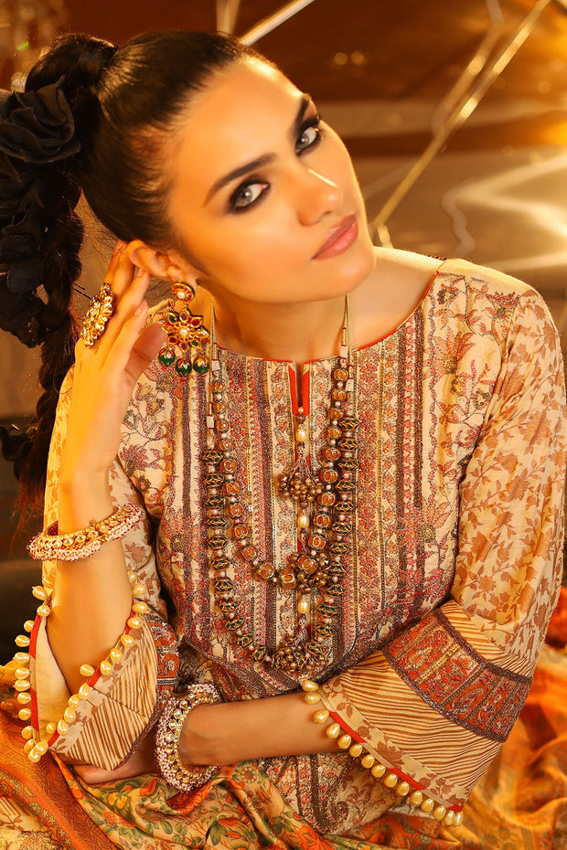 Alkaram Eid Lawn Outfit Latest Collection Close Up