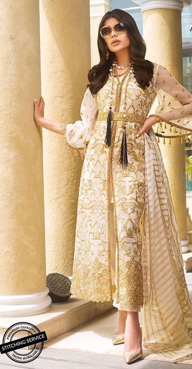 Asian style dress in ivory color