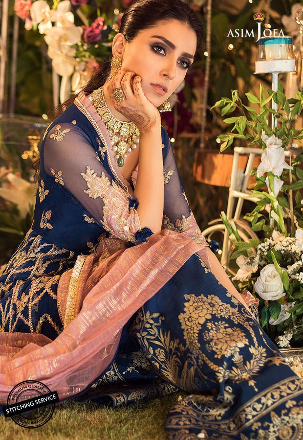Asim Jofa Chiffon Suit for Eid Close Up