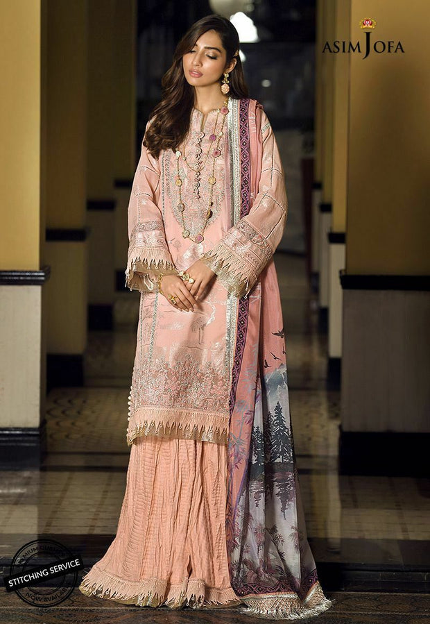 Asim Jofa Eid Dress in Pink Color