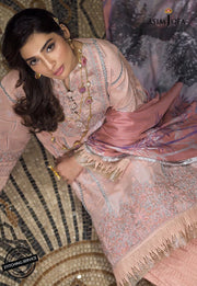 Asim Jofa Eid Dress in Pink Color Close Up