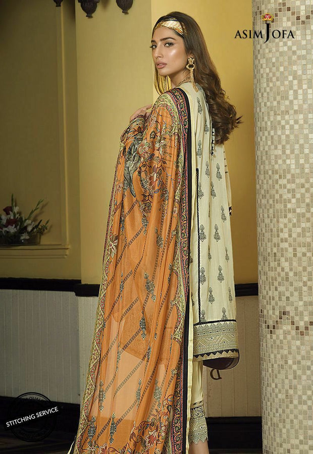 Asim Jofa Eid Wear in Ivory Color Backside