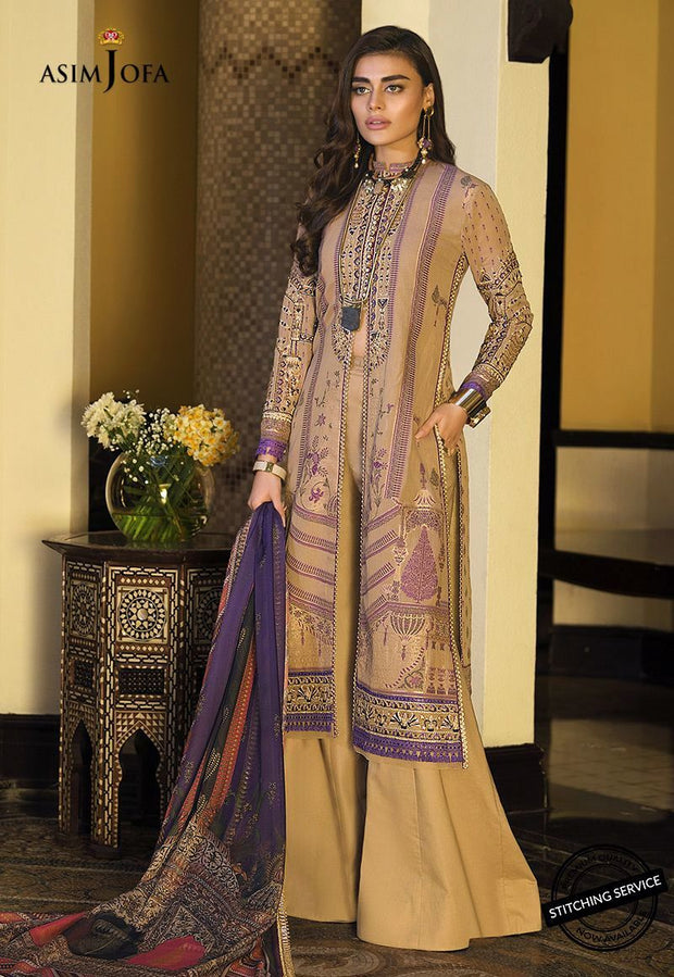 Asim Jofa Latest Lawn Dress Front Look